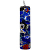 Millefiori Multi Cobalt Blue Silver Skinny 10x40mm Pendant W/Bail, Murano Fused Glass