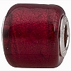 Ruby Red Gold Foil Cylinder Sterling Silver Insert