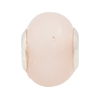Pink Opal Large Hole Bead 4.5mm Murano Glass Silver Insert