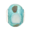Sea Green Large Hole Bead 4.5mm Murano Glass, Silver Insert (only qty 1 in stock)