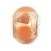 Pink White Gold Large Hole Bead 4.5mm Murano Glass, Silver Insert