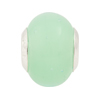 YChrysolite Opalino Large Hole Bead 4.5mm Murano Glass Silver insert ( only qty 1 in stock)