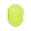 Spring Green Large Hole Bead 4.5mm Murano Glass Silver Insert