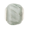 Gray Twisted Large Hole Bead 4.5mm Murano Glass Silver Insert