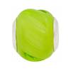 Honey Dew Twisted Large Hole Bead 4.5mm Murano Glass Silver Insert