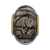 PERLAVITA Spiralina Murano Glass Charm Bead, White Gold & Black