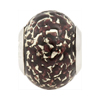 Large Hole Bead 4.5mm Murano Glass Silver Insert, Black and White Gold