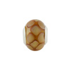 Large Hole Bead 4.5mm Murano Glass Silver Insert, Dots Topaz