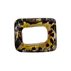 Large Hole Rectangular Bead for Regaliz, Chocolate Gold Foil Marmo
