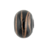 Black and Aventurina Spiral 20m Round,Murano Glass Bead