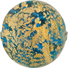 Aqua C'a'doro Gold Foil Round Shape 30mm Murano Glass Bead
