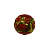 Murano Glass Bead Bed of Roses Exterior Gold Foil Round 14mm Opaque Red