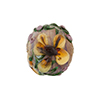Murano Glass Bead Lampwork Flower Bead 16mm Earth Tones