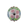 Murano Glass Bead Lampwork Flower Bead 16mm