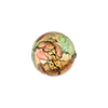 Multi Colors Bright 24kt Gold Foil Machiavelli Venetian Glass Bead , Round 14mm