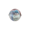 Amethyst and Aqua White Gold Foil Machiavelli Venetian Glass Bead , Round 14mm