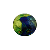Green and Cobalt Multi Color Machiavelli Venetian Glass Bead, Round 16mm