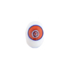 White Multi Millefiori Rondelle 13x8mm 2mm Hole, Murano Glass Bead