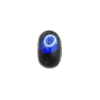 Black Multi Millefiori Rondelle 13x8mm 2mm Hole, Murano Glass Bead