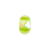 Green Gold, Silver Foil Rondelle 13x8mm 2mm Hole, Murano Glass Bead
