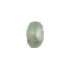 Gray White Gold Foil Rondelle 13x8mm 2mm Hole, Murano Glass Bead