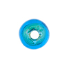 Aqua Gold Foil Rondelle 15x10mm 2mm Hole, Murano Glass Bead