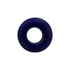 Cobalt Blue Aqua Rondelle 15X10mm 6mm Hole, Murano Glass Bead
