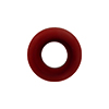 Dark Red Rondelle 15X10mm 6mm Hole, Murano Glass Bead
