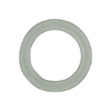 Murano Glass Ring Rondel 22x15mm, Gray