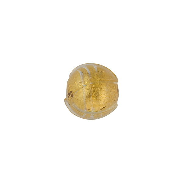 Clear 24kt gold foil baroque piped 9mm round wholesale for Clear baroque glass