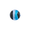 Blue & Aqua Sash Silver Foil Black Round 12mm, Murano Glass Bead