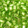 Green Silver Lined Seed Bead 8oz 11-0