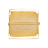 Clear Gold Foil 20mm Square Venetian Bead