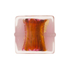 Murano Glass Bead Opalino Pillow Square 20mm Pink Silver Foil