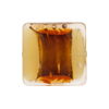 Murano Glass Bead Opalino Pillow Square 20mm Topaz Silver Foil