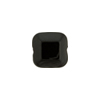 Venetian Bead Square Bevel Cut 12mm Black