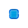 Venetian Bead Square Cut 12mm Transparent Aqua