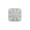 Venetian Glass Bead Square Starburst 15mm Gray