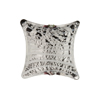 Filigrana Murano Glass Bead, 20mm Pillow, Silver Foil, Black w/White Stripes