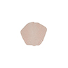 Murano Glass Bead Frit Transparent Hexagon 15mm, Pink