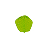 Murano Glass Bead Frit Transparent Hexagon 15mm, Green