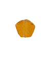 Murano Glass Bead Frit Transparent Hexagon 15mm, Topaz