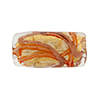 Murano Glass Bead Monet Rectangle 25x12 Gold Foil Red