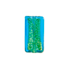 Murano Glass Bead 24kt Gold Foil Rectangle 16x8mm, Light Aqua