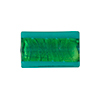 Murano Glass Bead Rectangle 20x12mm 24kt Gold Foil, Sea Foam Aqua