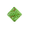Murano Glass Bead Silver/Aventurina Diamond 17mm Peridot