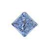 Murano Glass Bead Silver/Aventurina Diamond 17mm Blue
