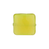 Spring Green Caramella Square Sleek 16mm, Venetian Glass Bead