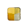 Venetian Bead Square 4 Colors Gold and Silver ,Steel. Topaz 16mm