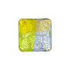 4 Colors Gold and Silver, Blue and Green 16mm, Vela Square, Murano Glass Bead